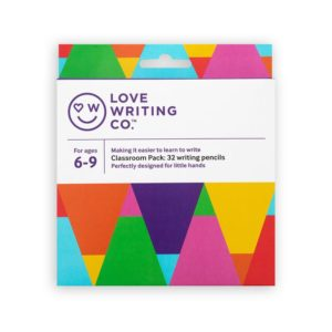 Ages 6-9: Love Writing Co. Writing Pencils – classroom pack of 32