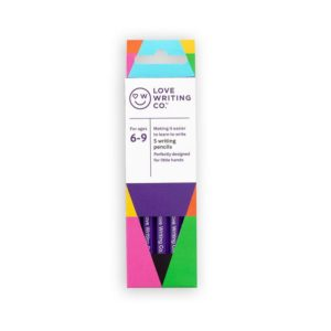 Ages 6-9: Love Writing Co Writing Pencils – pack of 5