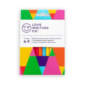 Ages 6-9: Love Writing Co. Erasable Colouring Pencils – pack of 12